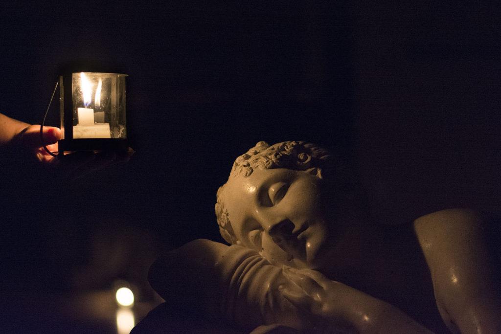 Antonio Canova a lume di candela